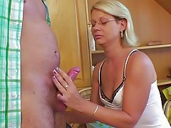 German Mom Get Fucked With Young Step Son After School